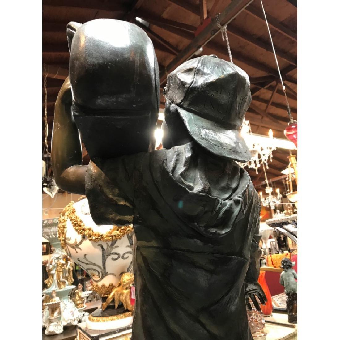 Bronze Statue of Boy w/ Boombox by J. Davidson - 6
