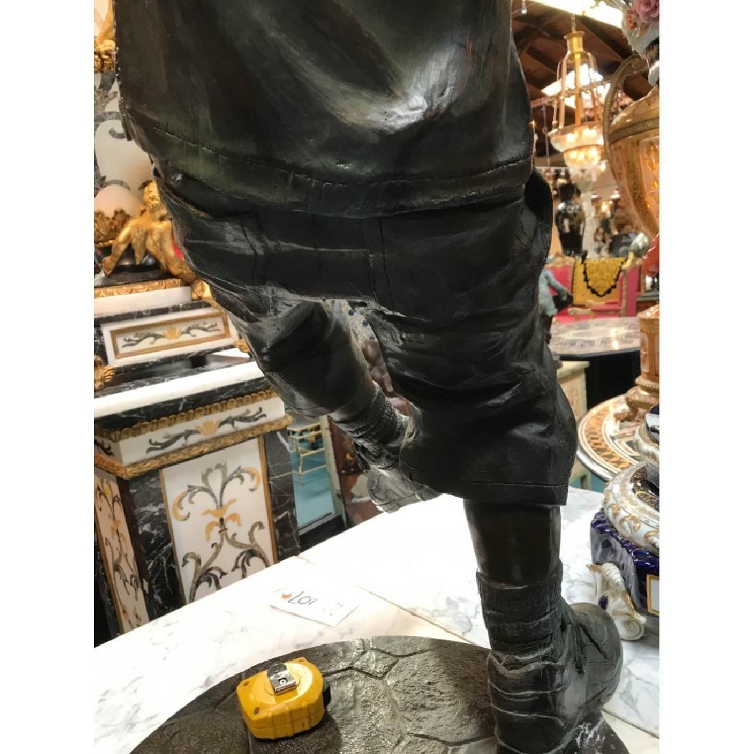 Bronze Statue of Boy w/ Boombox by J. Davidson - 7