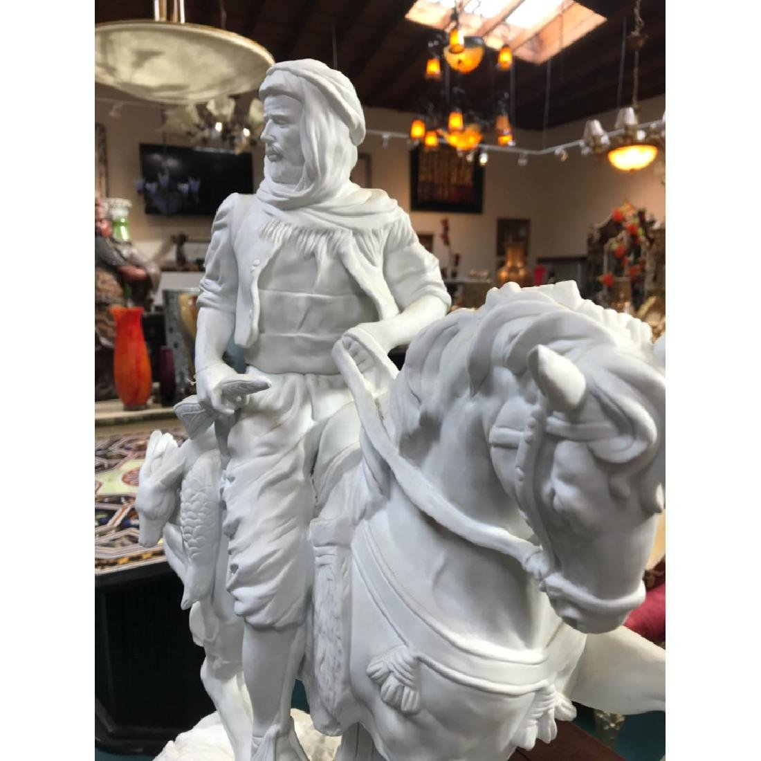 White Bisque Porcelain Statue of a Hunter - 10