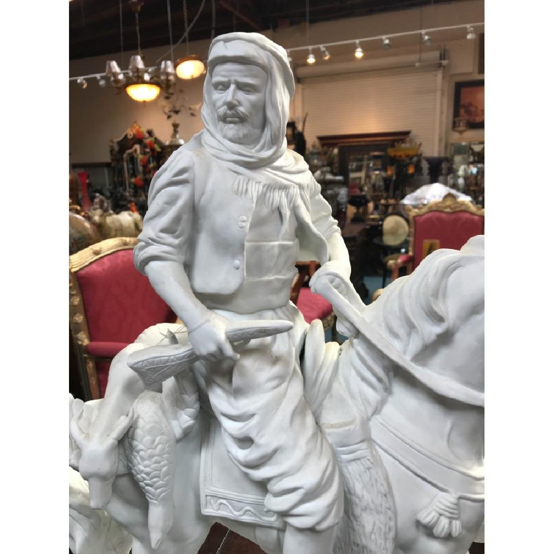 White Bisque Porcelain Statue of a Hunter - 2