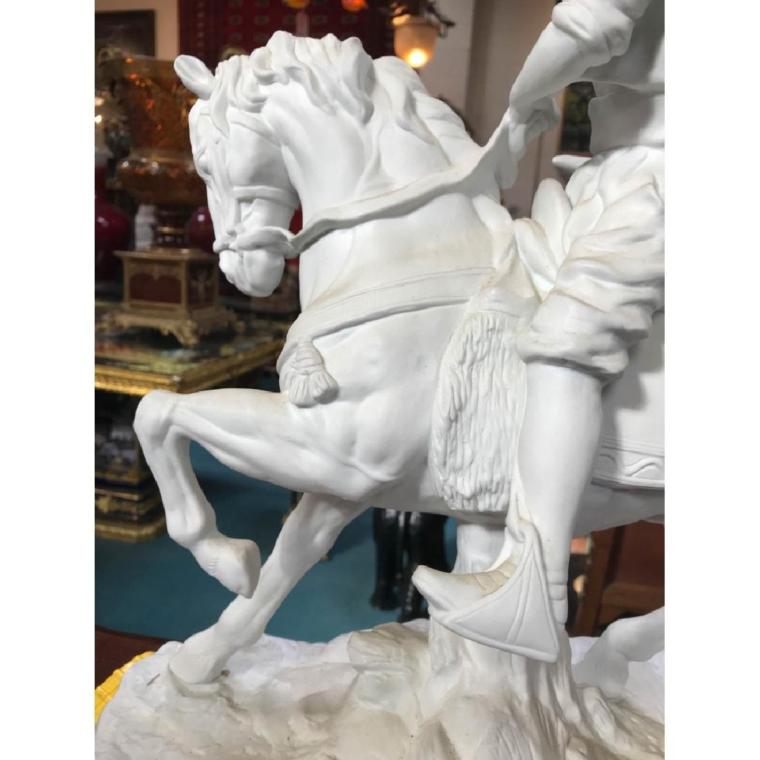 White Bisque Porcelain Statue of a Hunter - 7