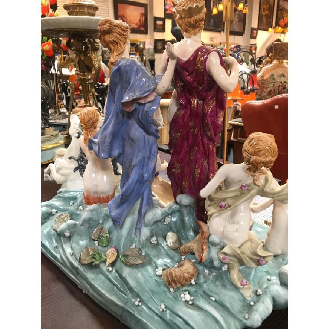 Porcelain Statue with Poseidon, God of the Sea - 10