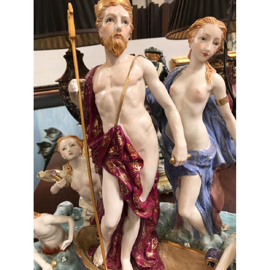 Porcelain Statue with Poseidon, God of the Sea - 6