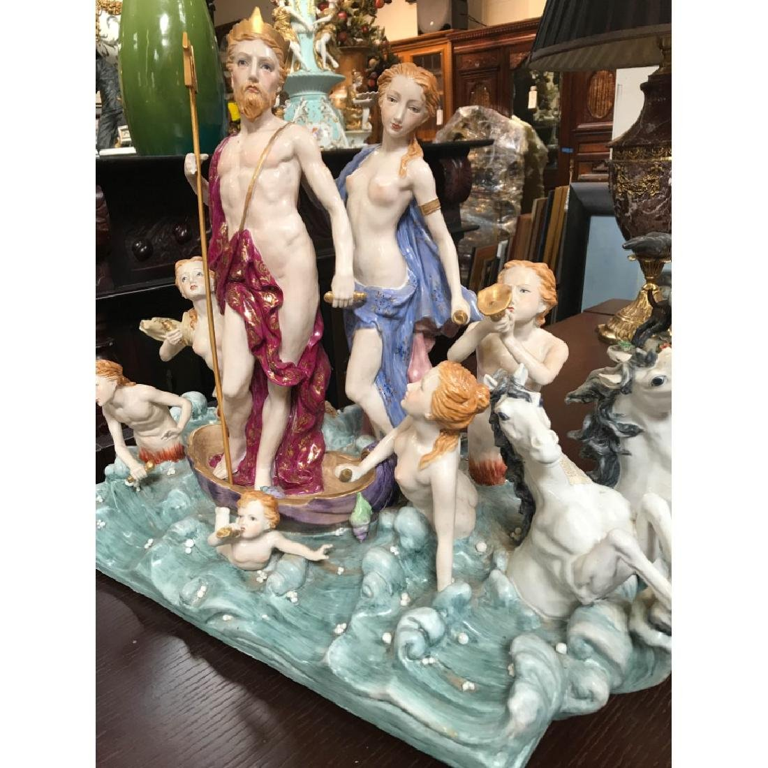 Porcelain Statue with Poseidon, God of the Sea - 8