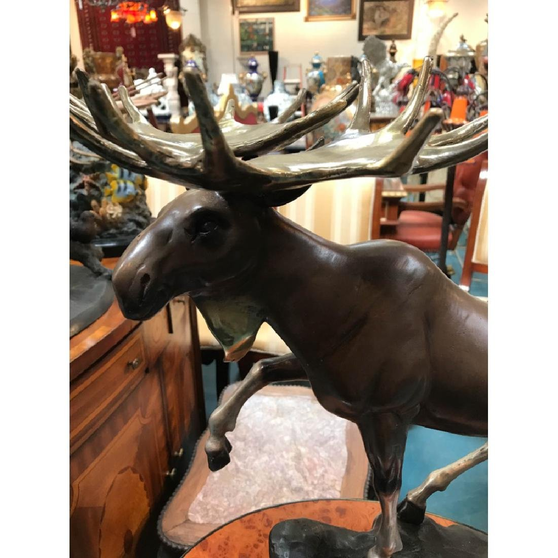 Bronze Statue of a Moose, Lmd. Ed., Signed - 2