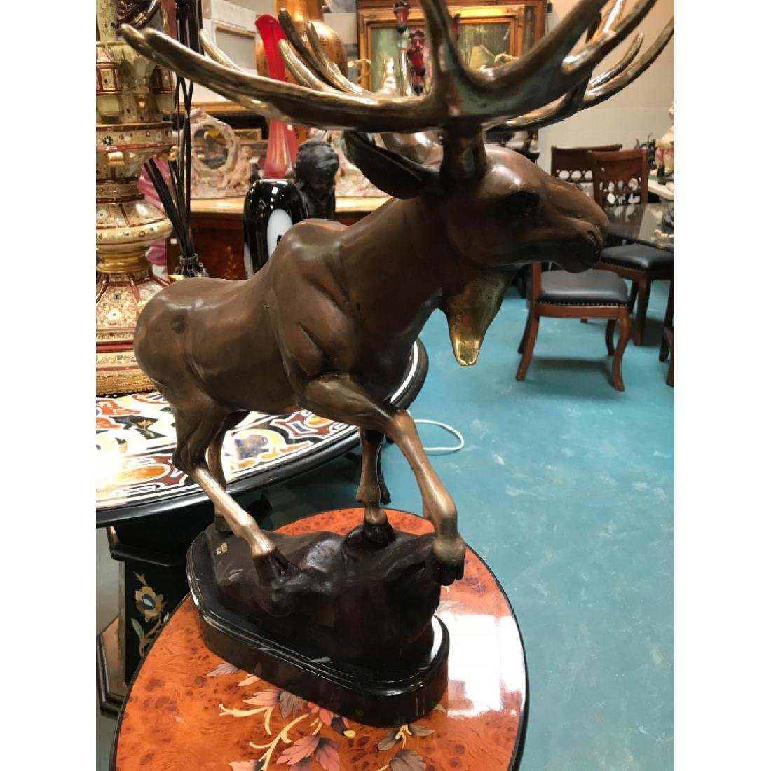 Bronze Statue of a Moose, Lmd. Ed., Signed - 8