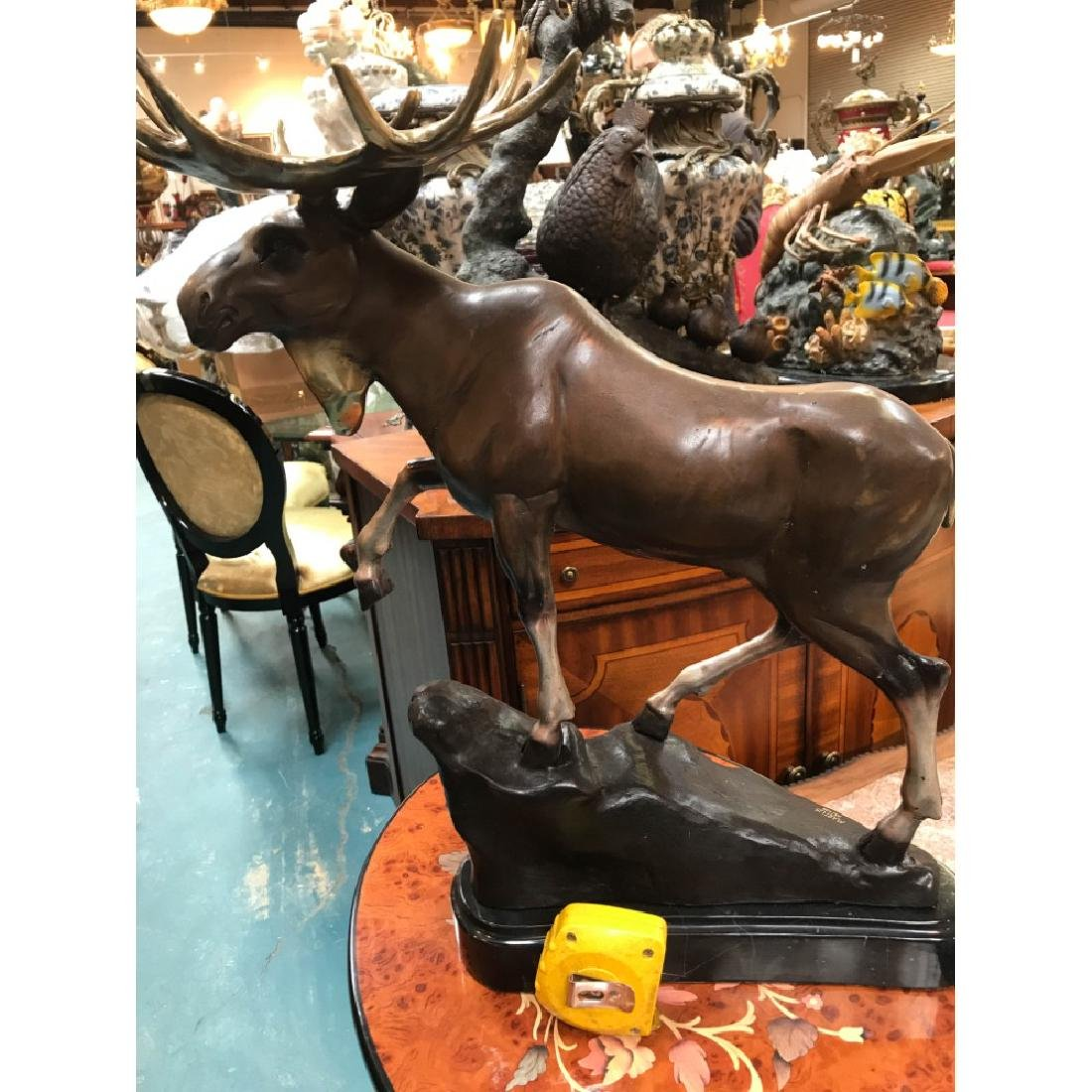 Bronze Statue of a Moose, Lmd. Ed., Signed - 9