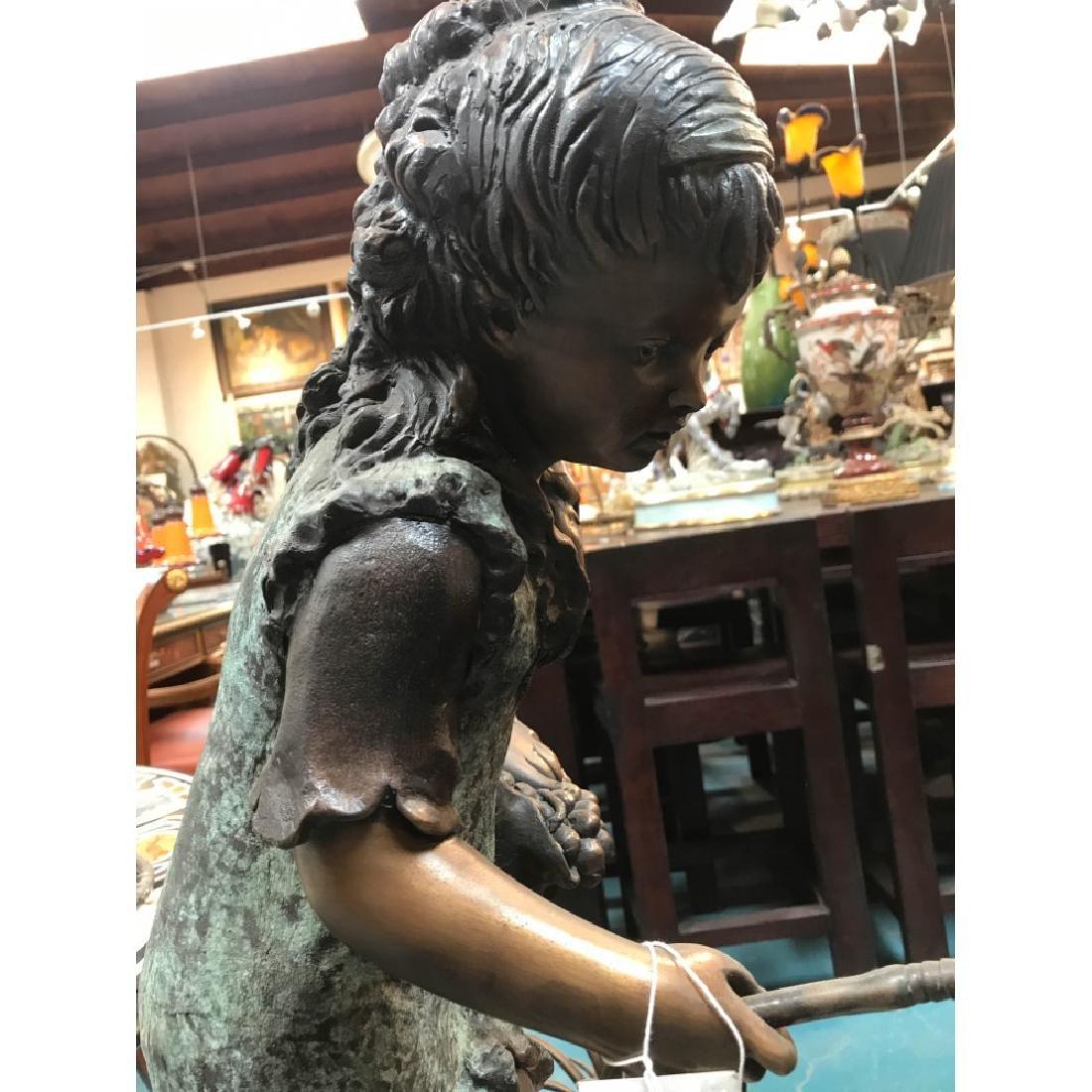 Bronze Statue/Fountain of Girl w/ Basket - 10