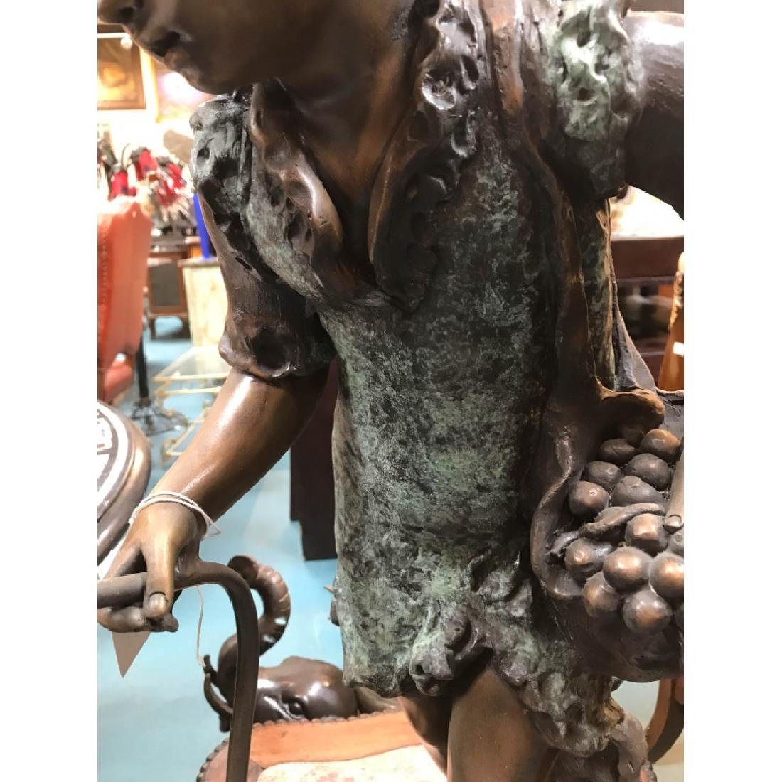 Bronze Statue/Fountain of Girl w/ Basket - 4
