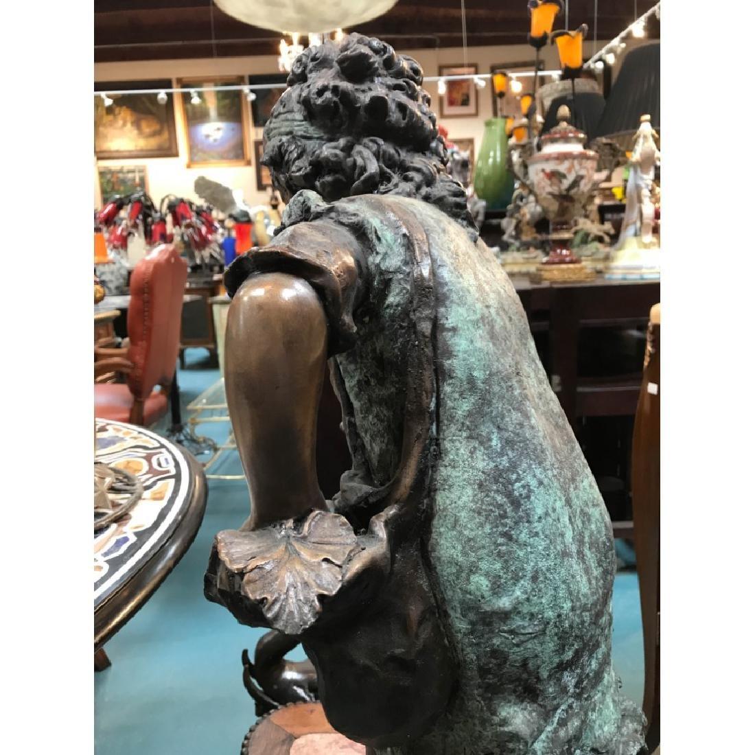 Bronze Statue/Fountain of Girl w/ Basket - 7