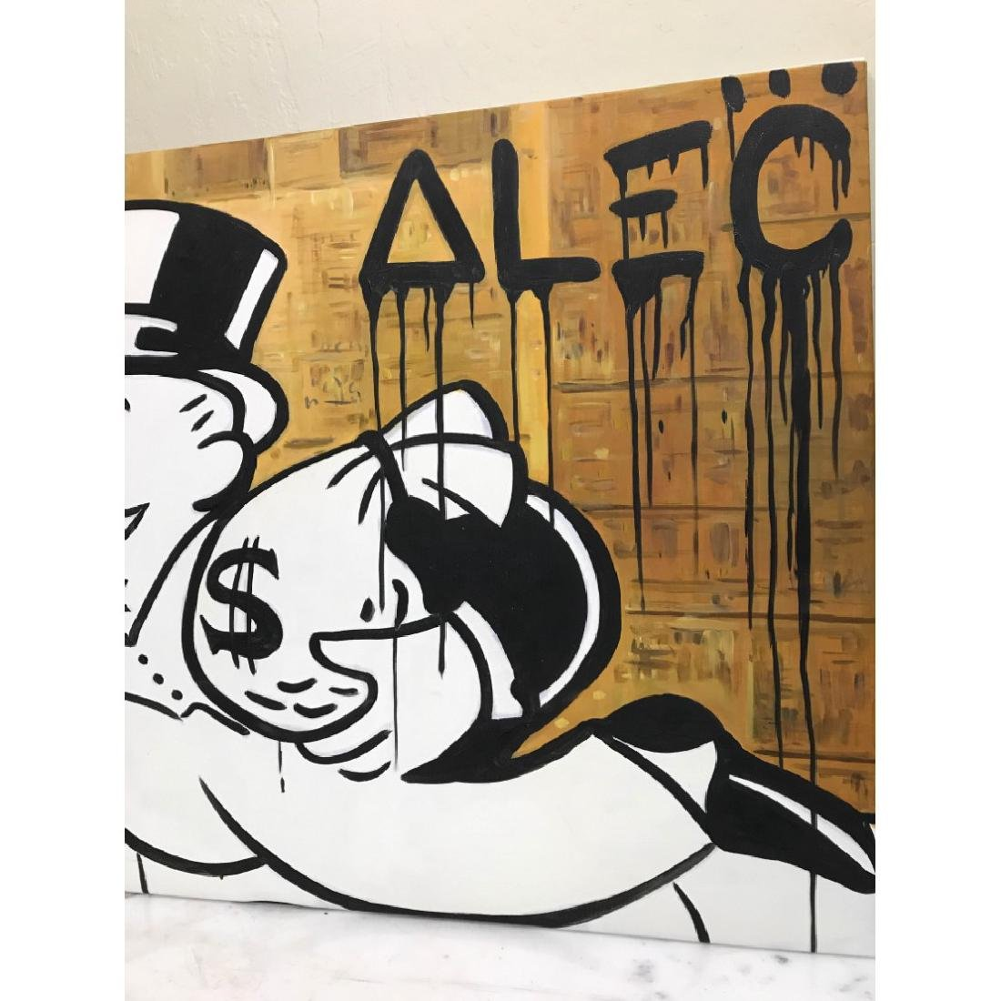 Oil on Canvas of Monopoly Man w/ Bag of Money - 3