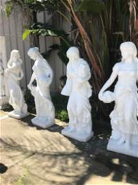 Set of 4 Seasons Marble Statue