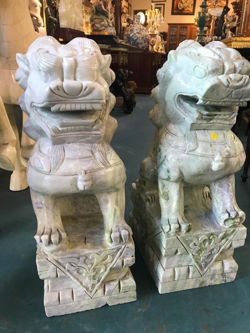 Pair of Jade Foo Lions