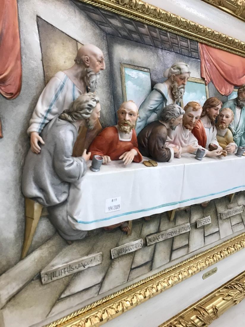 "Capodimonte Porcelain Plaque Relief ""The Last Supper"" - 2"