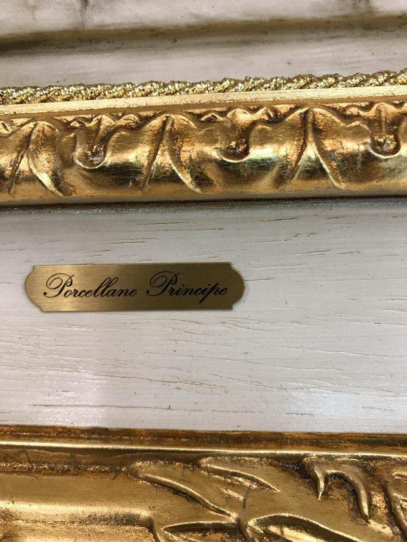 "Capodimonte Porcelain Plaque Relief ""The Last Supper"" - 6"