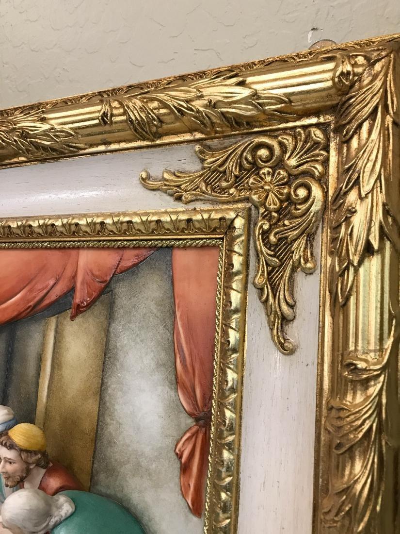 "Capodimonte Porcelain Plaque Relief ""The Last Supper"" - 8"