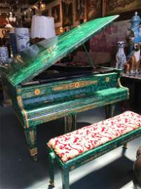 Spectacular Malachite Gerhard Adam Grand Piano