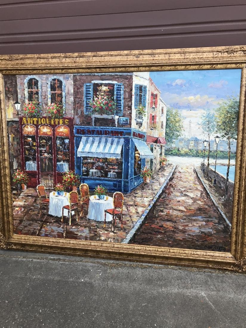 Oil on Canvas - Paris Street Scene