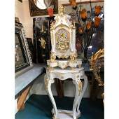 Magnificent Pearl Inlay Italian Clock