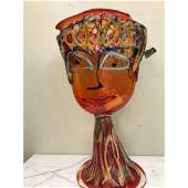 Large Abstract Hand Blown Glass Face