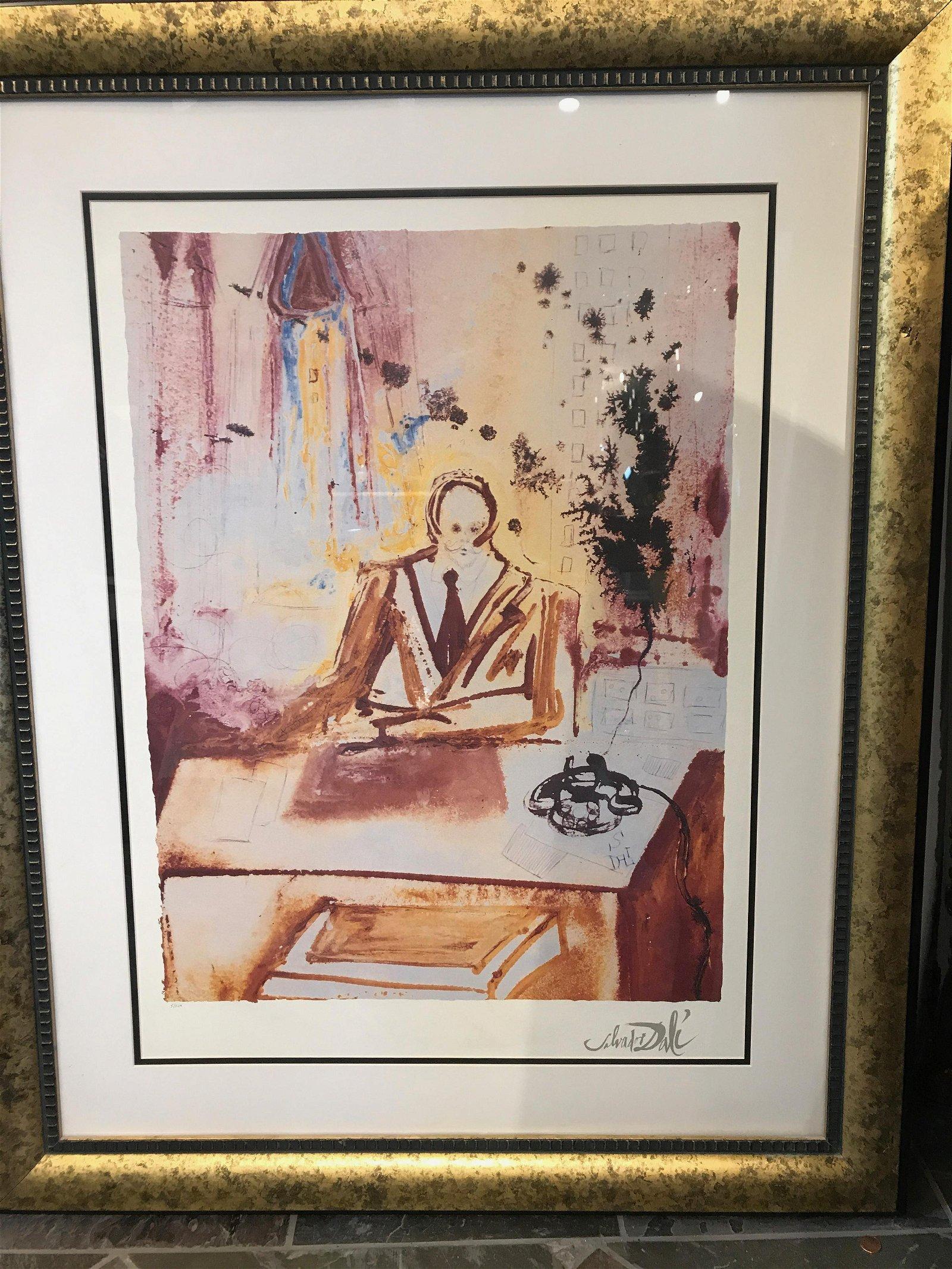 """""""Business Man"""" Lmd. Ed. Salvador Dali Print, Framed"""