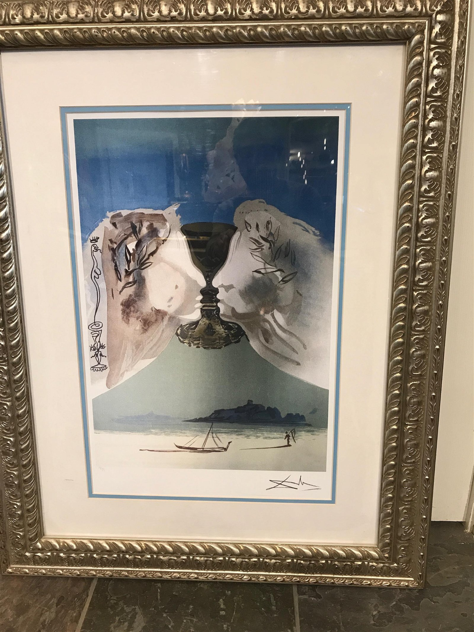 """Chalice of Love"" Lmd. Ed. Print by Salvador Dali"