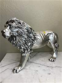 Magnificent Silver on Bronze Lion