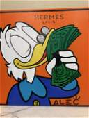 Oil on Canvas Alec Monopoly Reproduction - Donald
