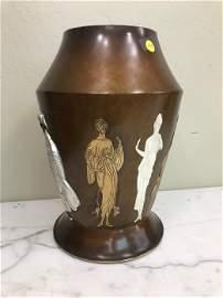 Original Erte Bronze Vase