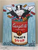 Oil on Canvas - Campbells Soup - Alec Monopoly