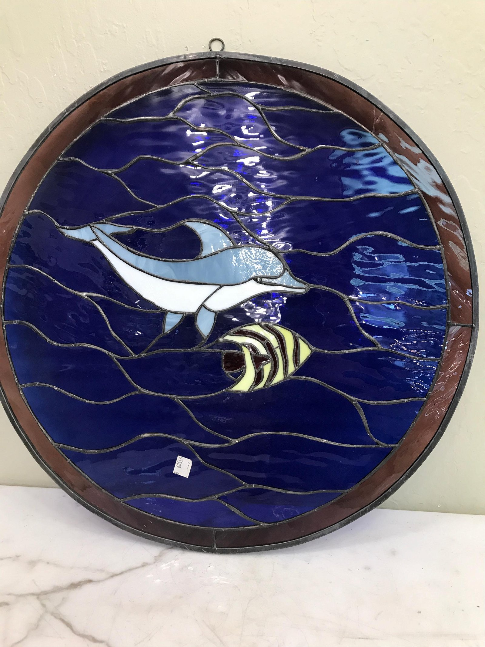 Dolphin and Fish - Stained Glass Style