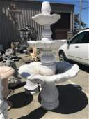 3 Tier White Marble Fountain