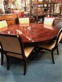 Spectacular Round Table with 6 Chairs