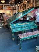 Spectacular Antique Malachite Piano and Bench | Gerard