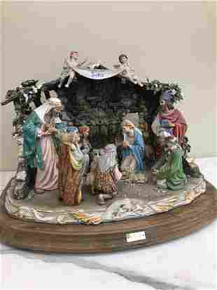 Very Unusual Limited Edition Capodimonte Nativity Scene