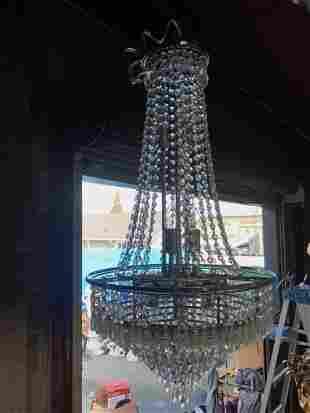 15-Light Art Deco Crystal Chandelier