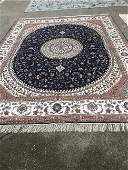 Spectacular Large Silk on Silk Handmade Rug