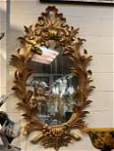Magnificent Wood 24K Gold Leaf Oval Mirror