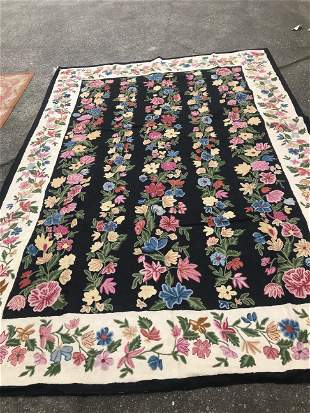 Unusual Handmade Pier Point Rug/Tapestry