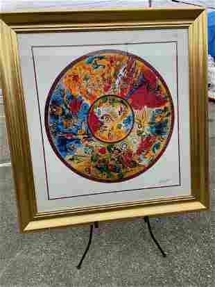 Large Limited Edition Marc Chagall Print - 126 of 500