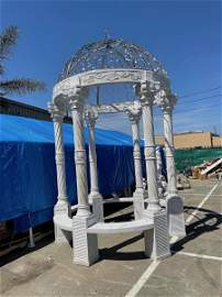 Spectacular White Marble Gazebo with Dome