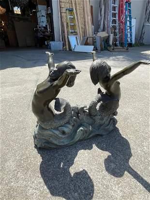 Bronze Statue of 2 Mermaids