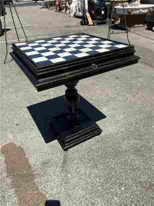 Marble Top Wood Game Table