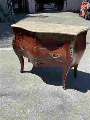 Marble Top Bombay with 4 Drawers