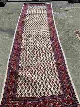Handmade Wool Runner with Unique Design