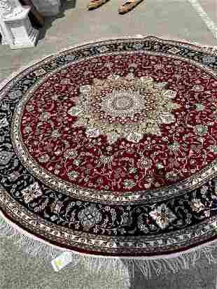 Fine Round Silk Carpet