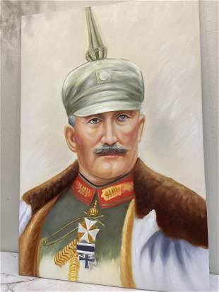 Oil on Canvas - Portrait of Kaiser of Germany in
