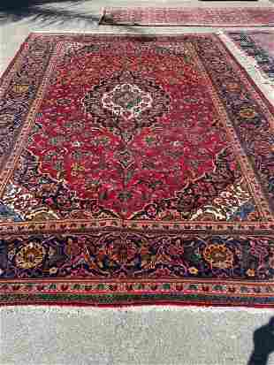 Large Hand-Woven Wool Area Rug