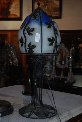 Art Deco Table Lamp, 29 Inches H