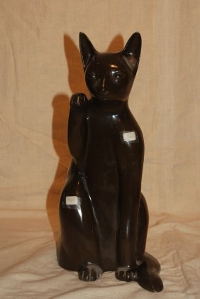 Bronze Cat By P.j. Mene, Approx. 16 Inches Hx9 Inches